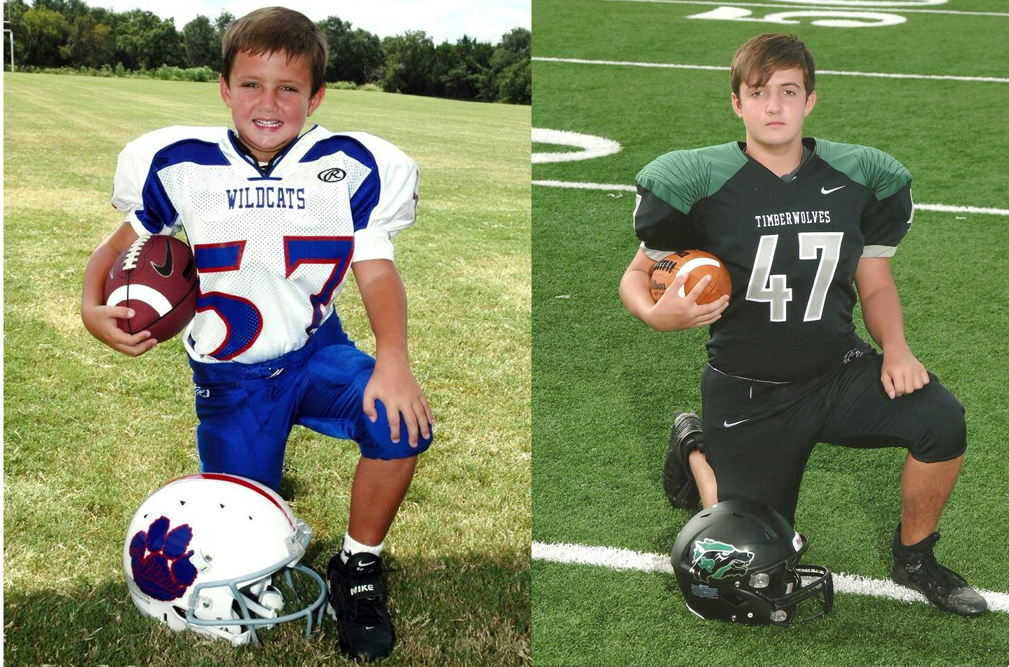 is your son moving on from youth football to play middle